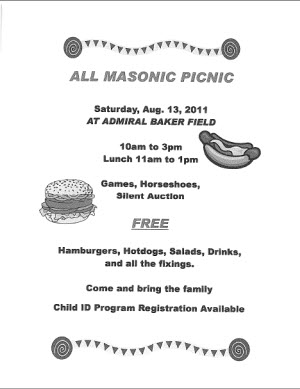 2011 All Masonic Picnic Flyer Image