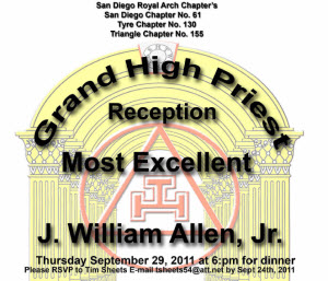 Tyre Chapter Reception for ME Bill Allen